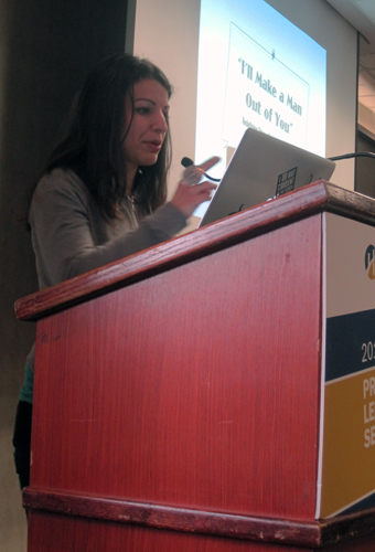 Feminist media critic Anita Sarkeesian was the last of this season's guest lecturers. PHOTO BY HELEN SURGENOR