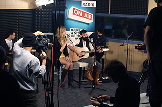 Jena Gogo and Jay Mitchell of Blue Sky Miners perform live at Radio Humber. COURTESY MARIELLE TORREFRANCA