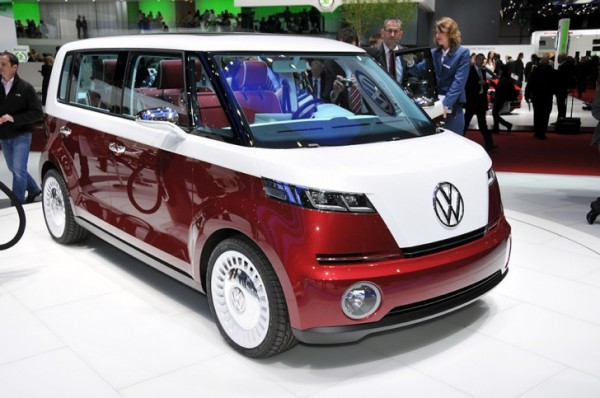 Volkswagen The VW Bulli Microbus, shown here at the 2011 International Motor Show, featuring an iPad dock that professor George Paravantes helped design.