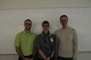 L - R Sergiu Fediuc, Sarah Coulson and Noah Gentner 1