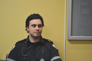 Humber paramedic student Gabriel Maltese plans to pen an essay. Photo by Cristina Pietrantonio