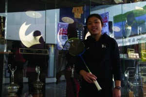 Tracy Wong was half of the team that won a CCAA silver medal in mixed doubles badminton.