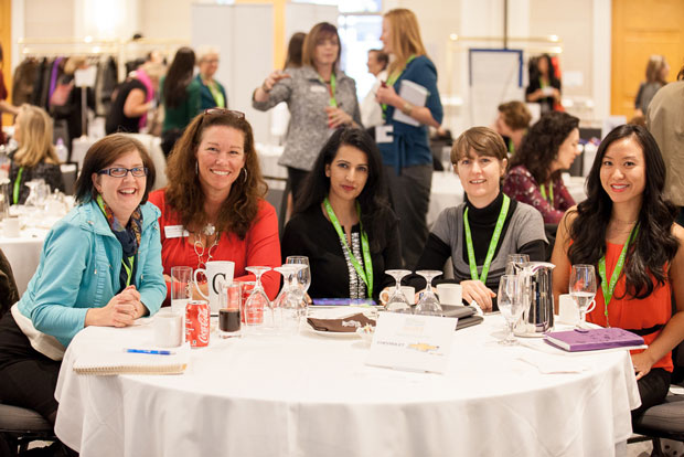 COURTESY LEIGH MITCHELL. Women at a Women in Biz conference in Vancouver.