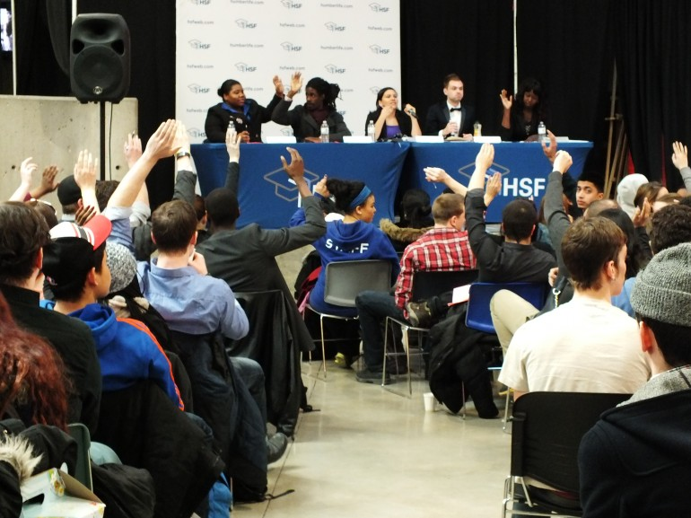 HSF held the Annual General Meeting on Wednesday at the Student Centre at North Campus | Photo by Alex Coop