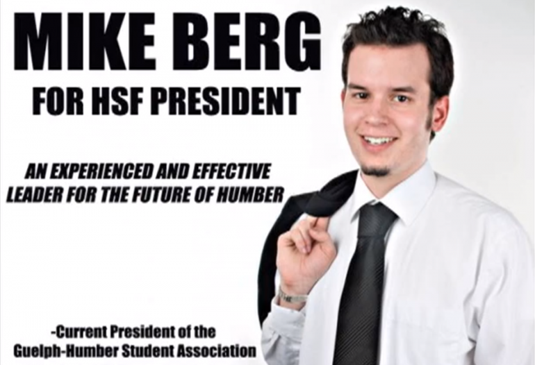 A screen capture of former HSF president Mike Berg from a 2008 promotional video.