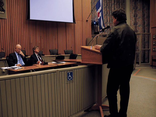 Residents addressed their concerns at the Etobicoke Civic Centre regarding Hydro's communication with residents during the ice storm | Photo by Ian Burns