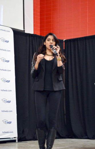 Aliya-Jasmine Sovani, host of MTV's Play with AJ, spoke about IWD and her experience as a woman in the media.