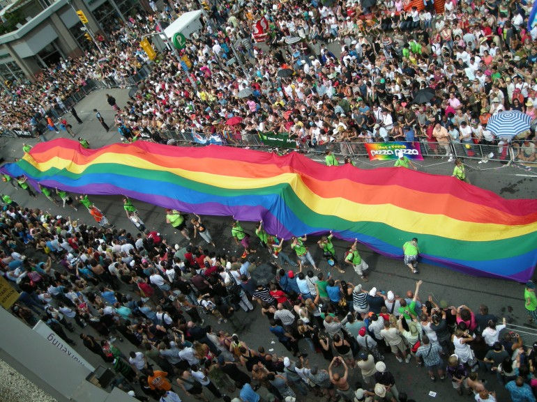 Toronto Pride, Photo courtesy Neal Jennings , via Wikimedia Commons