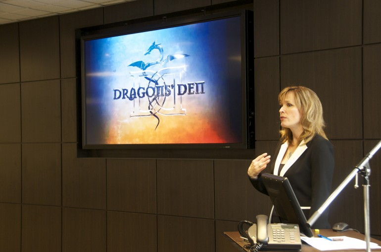 Kendra Hamilton kENDRA HAMILTON Dragons' Den's Dianne Buckner spoke to North Campus students.