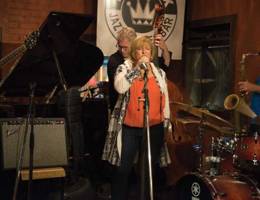 Music professor Lisa Martinelli took part in the Classic Rex Jazz Jam at the Rex Hotel Jazz and Blues Bar. Photo by Sarah Wickett
