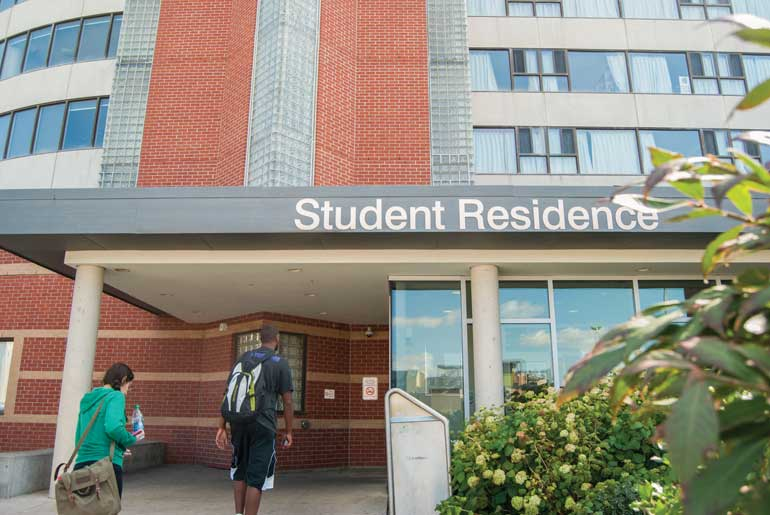 Humber Residence offers numerous programs to help students handle the stress of leaving home. Photo by Kelsey Coles.