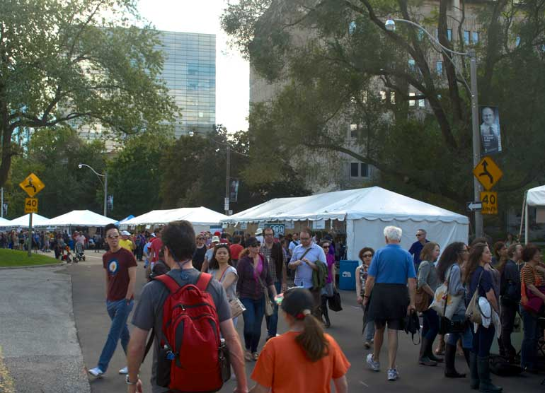 Torontonians gathered at Queen's Park for the annual Word on the Street event.