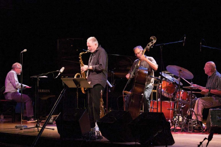 The Pat LaBarbera Quartet (from left: Brian Dickinson, Pat LaBarbera, Neil Swainson and Bob McLaren) played their set for this week's series.  Photo Courtesy of Sanja Antic.