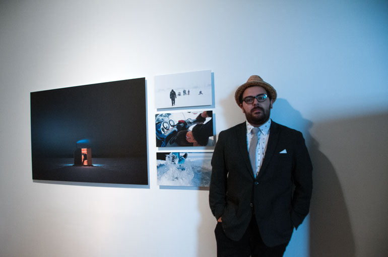 Artist Jordan Bennett seeks to hand down teachings of his Mi'kmaq heritage in a multimedia exhibit titled Ice Fishing on display at 401 Richmond St. until Oct. 31 Photo by Phil Witmer