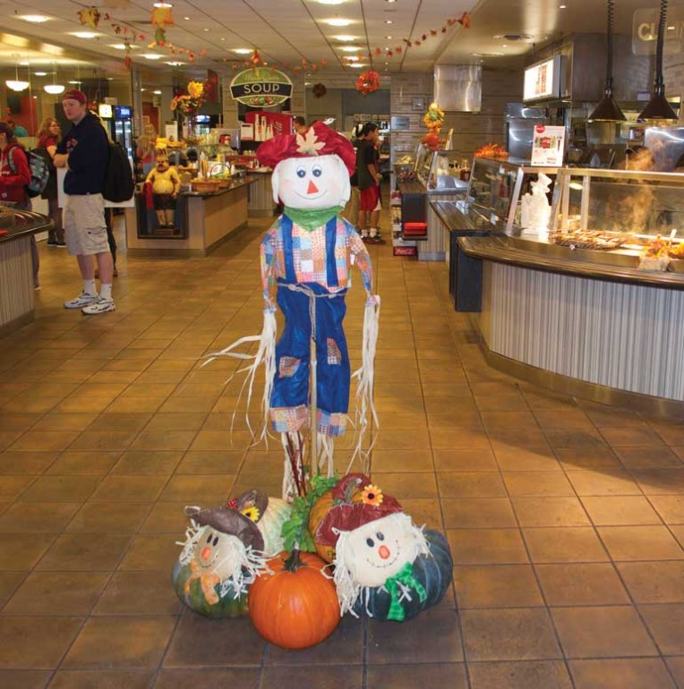 The residence cafeteria of Humber North gets into the harvest spirit.