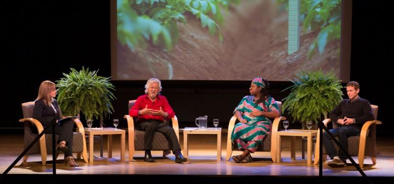 David Suzuki talking at Lakeshore Campus for Blue Dot Tour. (Photo Courtesy of Humber Marketing and Communications)