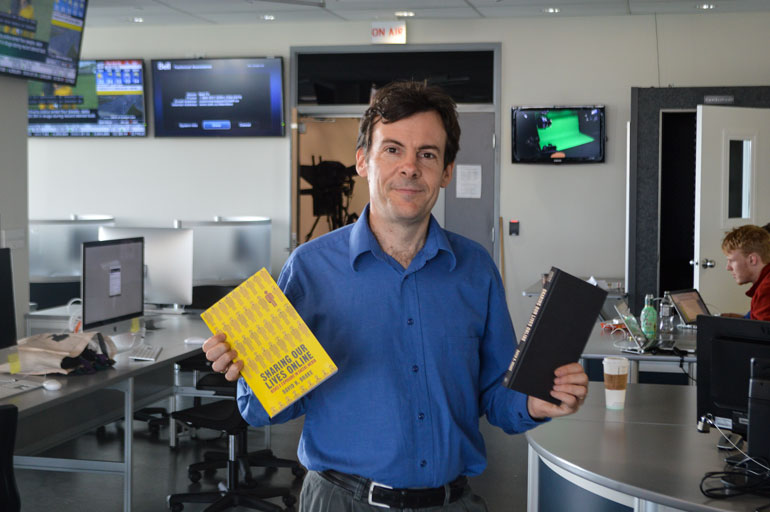 Journalism professor David Brake recently published a book, Sharing Our Lives Online: Risks and Exposure in Social Media Courtesy of David Brake
