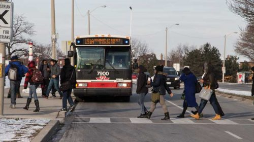 191 bus at Humber College Blvd