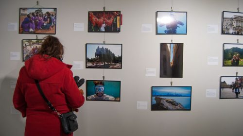Global Lens exhibit at L-Space, Lakeshore campus
