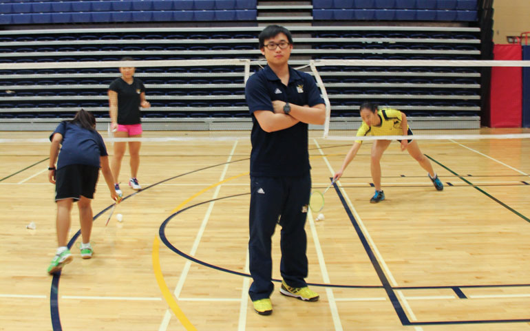 Badminton head coach Ray Wong was inducted into the Humber College of Athletics Hall of Fame in 2012. (Photo by Ali Amad)