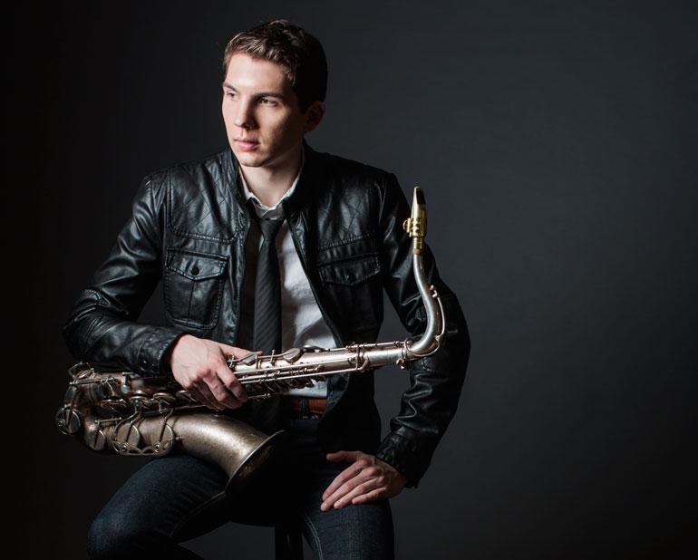 Eli Bennett, jazz saxophonist.