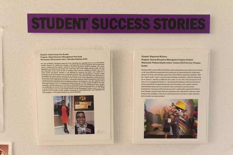 A few examples of success stories as a result of the Placement Centre (Photo by Alex Drobin)