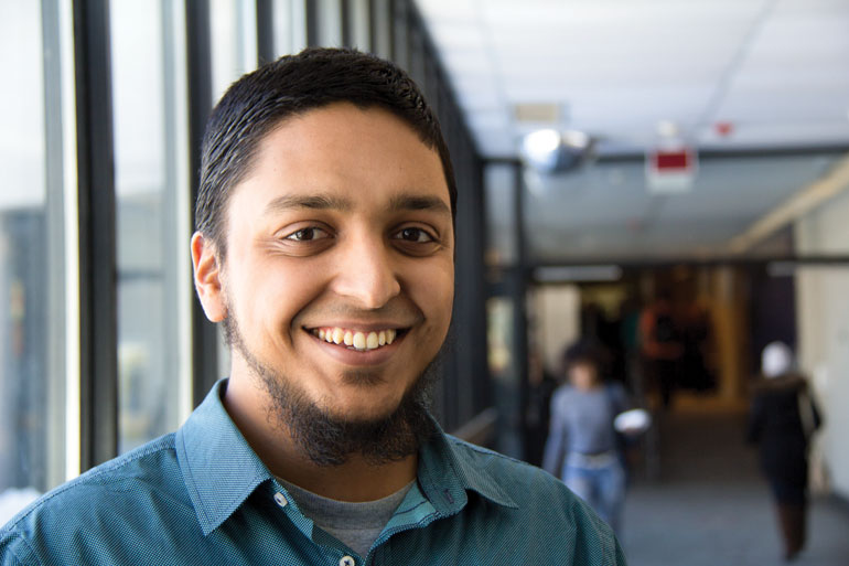 Humber Muslim Student Association president Taha Ali poses on Humber's North campus.  He gives insight into a religion often surrounded in controversy. Photo by Katie Pedersen