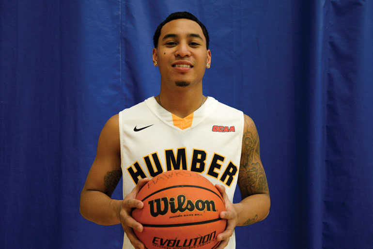 R.J. Ramirez hopes to get MVP award as he plays his final year for the Humber Hawks. (Jessica Reyes)