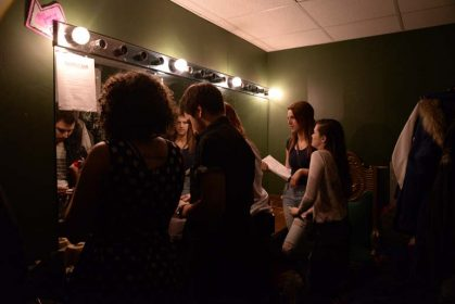 not a humber comedy show - backstage