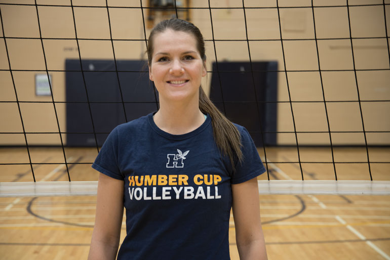 Thalia Hanniman was named the MVP of the OCAA Championship tournament while leading the Humber Hawks to a record-breaking eighth consecutive provincial gold. (Katherine Green)