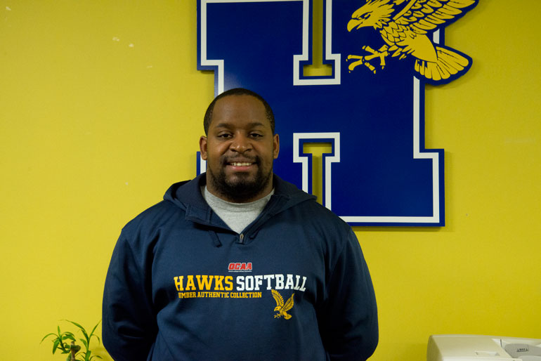 Duaine Bowles, head of Humber's varsity operations, who leads his team to set up the sporting events here at Humber. (Jessica Reyes)