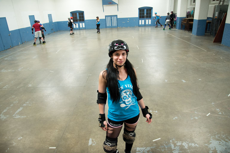 Humber Media Communications grad Anita Crawford has been with the Toronto LOCO (low contact) Roller Derby since 2012. (Ali Amad)