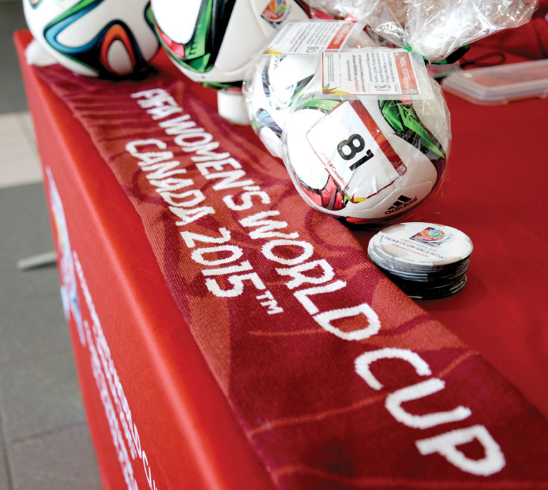 The 81st mini match ball was tucked away in the Ontario Soccer Association in Woodbridge Ont. (Katherine Green)