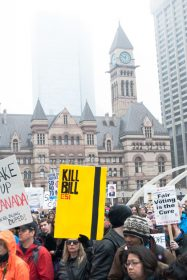 bill c-51 protest in toronto - sign
