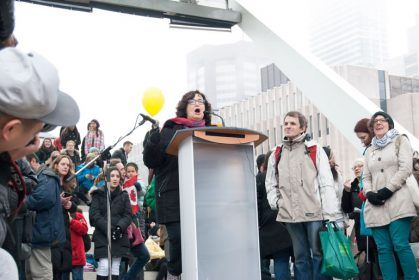 bill c-51 protest in toronto - speakers