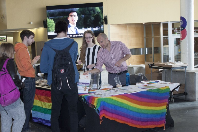 Student, staff and faculty were treated to sweets and education on transgender issues at Tuesday's Genderbread cookie sale at the North Campus.