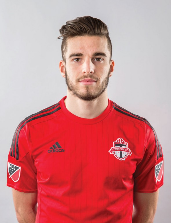 Hawks men's soccer MVP Marcos Nunes has a one year pro contract with Toronto FC to play on their second team. (Courtesy of TFC)