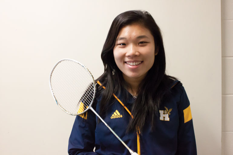 Humber Varsity Badminton player, Tracy Wong, who was selected for the World University Games for the third time. The games will take place in Gwangju, South Korea. (Jessica Reyes)