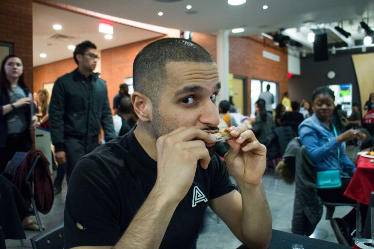 Free wings night was held at Lakeshore campus on March 30. Humber Students' Federation event was a sell-out. (Photo Christy Farr)