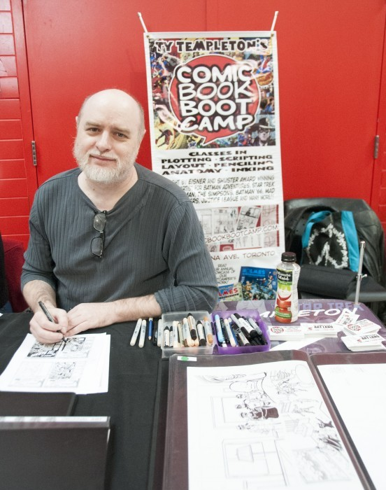 Ty Templeton, a Canadian comic book artist, was among the illustrators showing off his work at Humber's third annual Comic Con Expo earlier this month. (Allyyssa Sousa-Kirpaul)