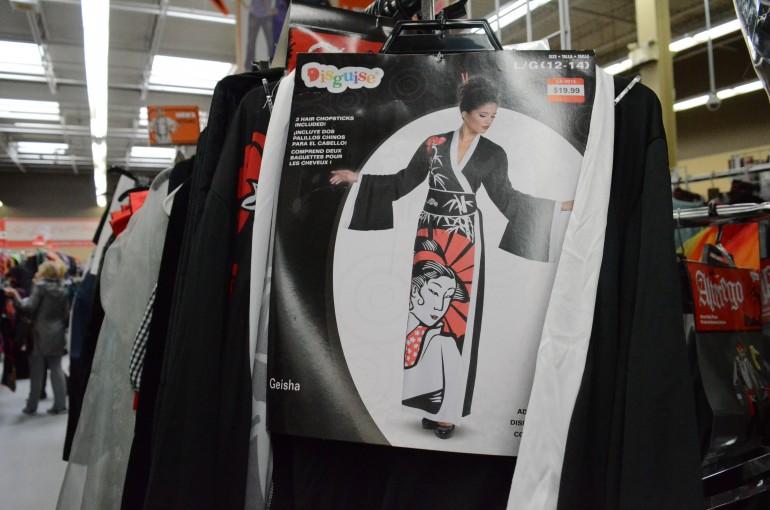 A geisha costume Aboriginal Liaison Officer Quazance Boissoneaur said is disrespectful. (Natalie Dixon)