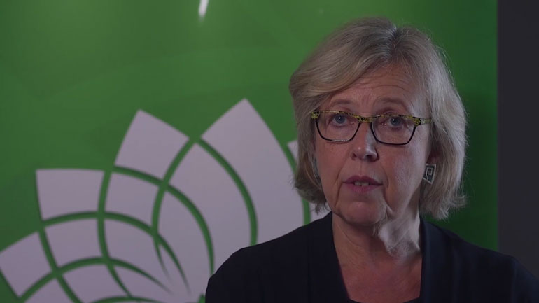 Green Party leader Elizabeth May says her social media strategy for the Munk Debate, which she was not invited to, works. (Photo: @CanadasGreens, Twitter)