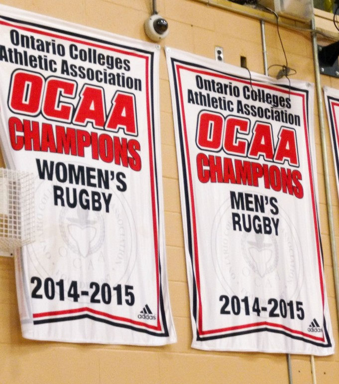 Humber's men's varsity rugby team were OCAA champions last season. (Photo: Jacob WIlson-Hajdu)