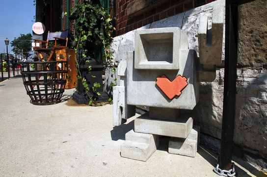 Del Degan's Lovebots can be found across the streets of Toronto (Alex Guibord)