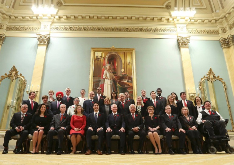 """Prime Minister Justin Trudeau said he was proud to """"present to Canada a cabinet that looks like Canada."""" (Photo: Chris Wattie, Reuters)"""