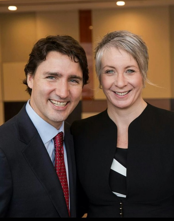 Patty Hajdu of Thunder Bay, Ont. is sworn in as Minister of Status of Women for Trudeau's 31-member cabinet. (Photo: Patty Hajdu)