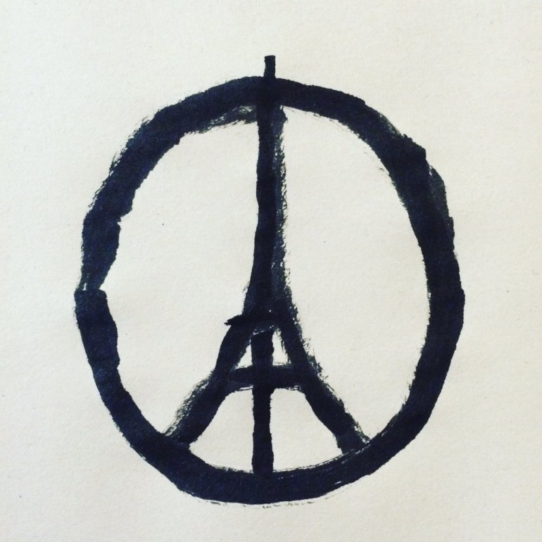 This image went viral on social media to show support for Paris victims. (Photo: Twitter/jeanjullien)