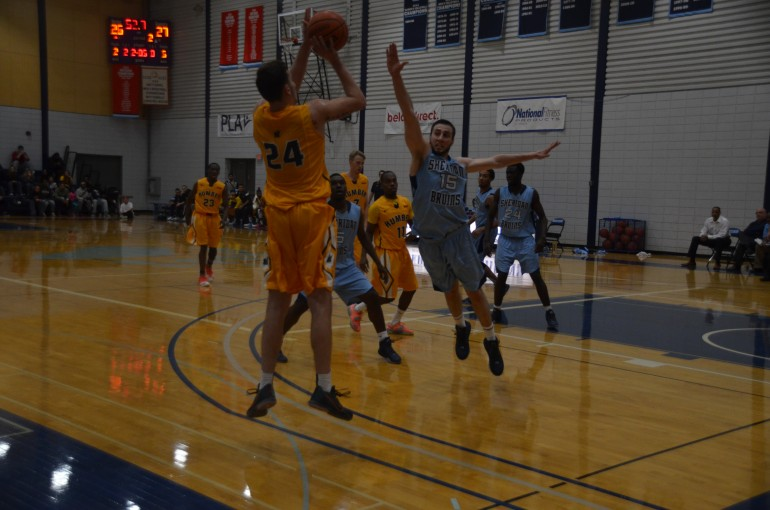 Humber  Hawks, undefeated at home and seen here against Bruins, face division leader Mountaineers on Jan. 13. (Photo: Jesse Bonello)