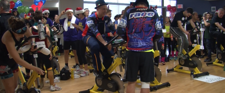 Fitness and health students planned the sixth annual Spinathon at Humber College.
