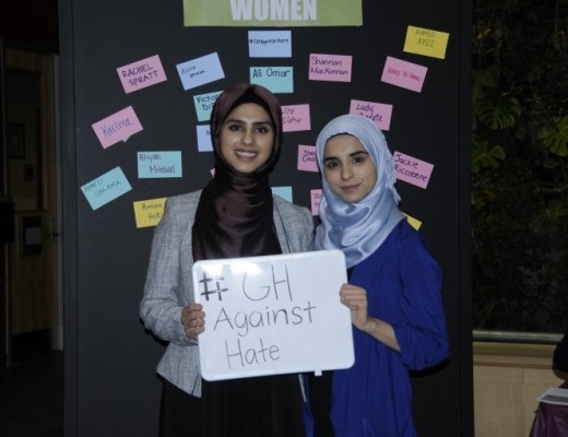 GH Against Hate, organized by the Justice Studies program at Guelph-Humber,  offered students the opportunity to wear a hijab and talk about the experience.